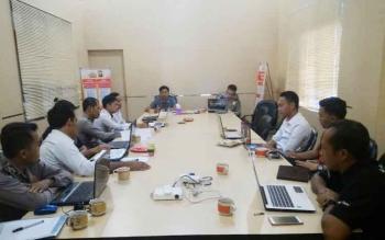 Rapat persiapan launching Tim Cybercrime Polres Pulang Pisau, Selasa (7/3/2017).