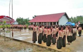 Kegiatan di SMAN 3 Murung, Kabupaten Murung Raya, beberapa waktu lalu.