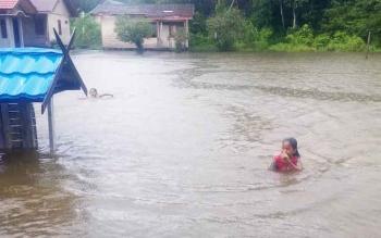 Camat Kolam Sebut Banjir Hal Biasa Bagi Warga Desa Kondang dan Rungun