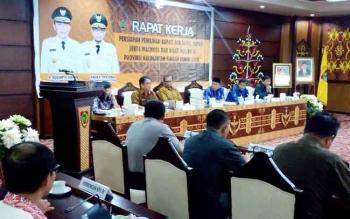 Pemerintah Provinsi Kalteng menggelar Rapat Kerja Persiapan Pilkada Serentak 2018 di Aula Eka Hapakat, lantai III, kantor gubernur Kalteng, Kamis (9/3/2017).
