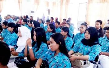 Puluhan pelajar mengikuti kegiatan pembinaan mental spiritual yang digelar Pemkab Lamandau, Kamis (9/3/2017)