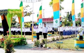 Upacara Hari Bulan Bakti Kementrian Agama di Kabupaten Sukamara.