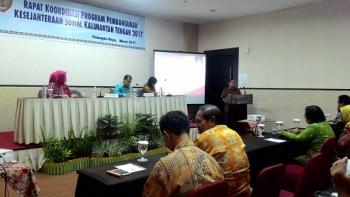 Syahrin Daulay, Plt Sekda Kalteng membuka rapat koordinasi program penanganan kesejahteraan sosial Kalimantan Tengah di Hotel Luwansa, Kamis (9/3/2017) malam.