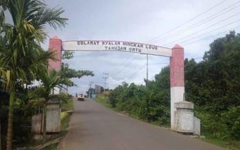 Batas wilayah Desa Tahujan Ontu dengan Kelurahan Beriwit versi warga Desa Tahujan Ontu.