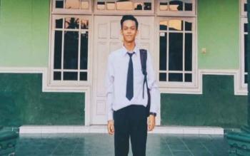 Salah satu finalis pemilihan putra putri pariwisata Kotim Rakhmad Jimmy, Minggu (12/3/2017).