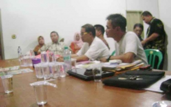Pengurus dan anggota DPD Golkar Seruyan saat menggelar pertemuan membicarakan persiapan pelantikan, Selasa (14/3/2017) malam.