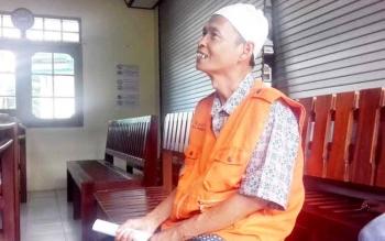 Halianur alias Amang saat di Pengadilan Negeri Sampit, Rabu (15/3/2017)