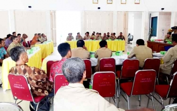 Rapat percepatan penentuan tata batas desa dan kelurahahn di Sukamara.