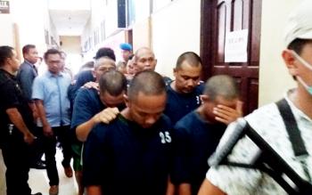 Sejumlah tersangka sabu yang ditangkap jajaran Polres Kotim dari awal tahun hingga pertengahan Maret 2017 ini.