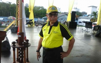 Ketua DPD Partai Golkar Seruyan, Sudarsono, cek kesiapan pelantikannya, Sabtu (18/3/2017).
