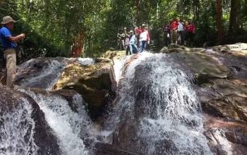 Air Terjun di Gumas Ini Berpotensi Jadi Obyek Wisata Andalan
