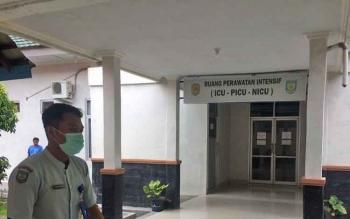 Ruang ICU RSSI Pangkalan Bun tempat Piusdame dirawat intensif oleh dokter, Sabtu (18/3/2017).