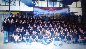 Alumni Seba PK Polri 1994/1995 Batalyon Adhi Pratama SPN Banjarbaru menggelar reuni di Palangka Raya, Sabtu (18/3/2017).