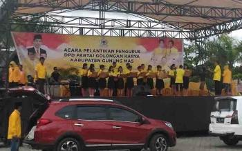 Persiapan pelantikan pengurus DPD Golkar Kabupaten Gunung Mas.
