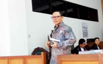 Mawardi seusai memberi kesaksian di Pengadilan Tipikor Palangka Raya