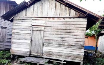 Ssalah satu rumah warga di Kelurahan Mendawai Sukamara.
