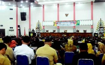 Rapat paripurna ke-3 masa sidang ke-1 tahun 2017 DPRD Kota Palangka Raya, Senin (20/3/2017)