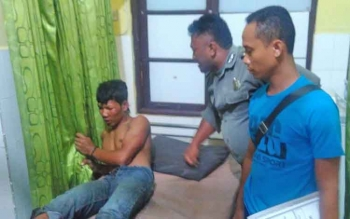 Hariyanto menjalani perawatan di Rumah Sakit Bhayangkara