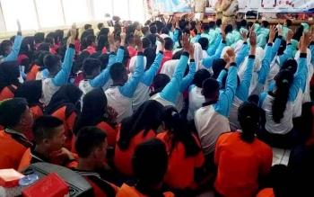 Beginilah kegiatan seleksi calon Paskibraka Kabupaten Barito Utara