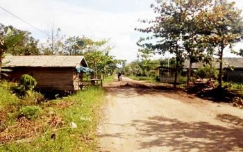 Jalan Rusak Jadi Kendala Menuju Dermaga Desa Pelangsian