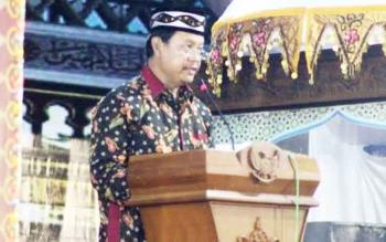 Wakil Bupati Lamandau, Drs. H. Sugiyarto, saat menutup kegiatan STQ VII tingkat kabupaten Lamandau, Selasa (21/3/2017) malam.
