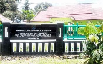 Bangunan Kantor Balai TN Sebangau Seksi Pengelolaan wilayah III ini berada di Jalan Kelud Kasongan Kabupaten Katingan