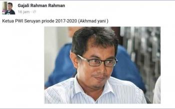 Ahmad Yani, Ketua PWI Seruyan