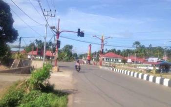 Jalanan Kota Puruk Cahu, Kabupaten Murung Raya.
