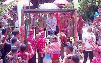 Umat Hindu Kaharingan di Desa Sei Paken Antusias Hadiri Safari Nyepi
