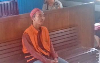 M Yamin, terdakwa kasus lakalantas dalam persidangan di Pengadilan Negeri (PN) Sampit.
