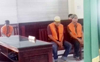 Mentung dan Suriansyah alias Alang tersangka kasus pembunuhan.