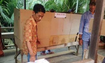 Pelaksaan pilkades di Desa Muara Untu, Kecamatan Murung