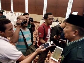 HM Asera, Ketua DPW PKB Kalteng saat diwawancarai wartawan, Selasa (28/3/2017)