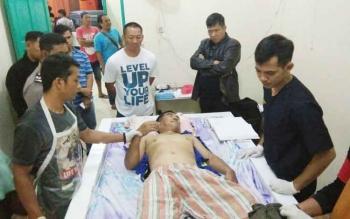 Jasa korban yang tewas di kamar Lokalisasi Km 12 saat di kamar jenazah RSUD Dr Murjani Sampit untuk dilakukan visum.