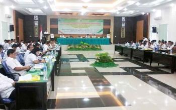 Musrenbang tingkat Kabupaten Katingan, dipimpin Wakil Bupati Sakariyas di Aula Bappelitbang, Rabu (29/3/2017).