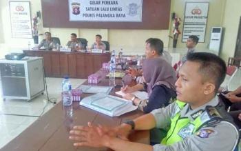 Gelar perkara terakhir di aula Yusuf Suganda, Polres Palangka Raya, Kamis (30/3/2017).