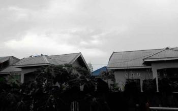 Kota Palangka Raya diguyur hujan dengan intensitas sedang sepanjang Kamis (30/3/2017) sore.