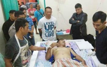 Korban yang tewas di komplek lokalisasi km 12, Jalan Jenderal Sudirman, Kecamatan MB Ketapang, Sampit.