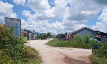 Kompleks perumahan yang bersengketa antara Hairil alias Itak Cs dengan Ricky Cs di Jalan Bumi Raya II, Kelurahan Baamang Barat, Kecamatan Baamang, Kabupaten Kotim.
