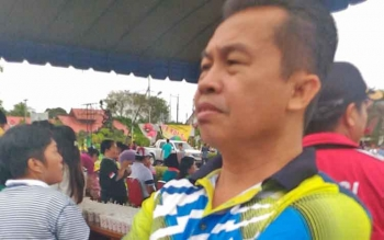 Kepala Dinas Transmigrasi Tenaga Kerja Koperasi dan UKM Kabupaten Gunung Mas, Letus Guntur.