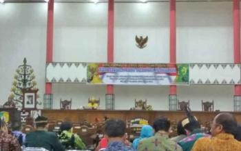Suasana sidang istimewa DPRD Kota Palangka Raya, Jumat (31/3/2017)