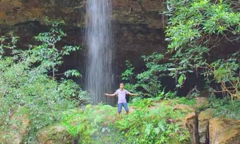 Air Terjun Bawin Kameloh, salah satu destinasi wisata yang ada di Kabupaten Gunung Mas.