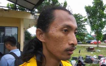 Rico Aritonang, mahasiswa Fakultas Hukum yang diduga menjadi korban pemukulan,
