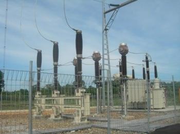 Gardu Induk Kalawa di Kelurahan Kalawa Kecamatan Kahayan Hilir