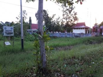 Tanah milik Dinas Pendidikan Kabupaten Kotim yang kalah dalam gugatan perdata di Pengadilan Negeri Sampit, beberapa waktu lalu.