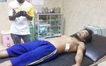 Ahmad Acing saat menjalani perawatan di RS Muhammadiyah.