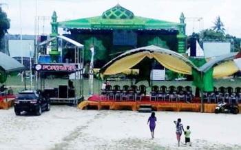 Panggung MTQ di Kecamatan Kumai, tahun lalu.