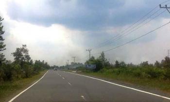 Jalan strategis nasional di Pulang Pisau.