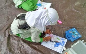 Anak-anak TK Perwanida saat mengikuti kegiatan di DPK Sukamara.