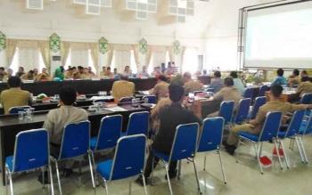 Kegiatan Rakordal Pemkab Pulang Pisau Triwulan I Tahun 2017 di Aula Bappeda Pulang Pisau, Selasa (4/4/2017)
